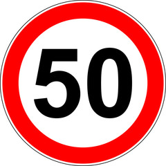 Verkehrsschild 50