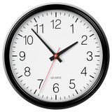 Vector classic black round wall clock poster