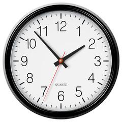 Vector classic black round wall clock