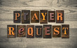canvas print picture - Prayer Request Wooden Letterpress Concept
