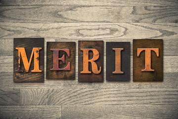 Merit Wooden Letterpress Concept