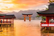 """Постер, картина, фотообои """"Miyajima Torii gate, Japan."""""""
