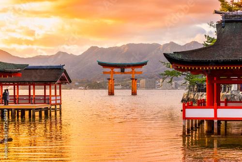 Zdjęcia na płótnie, fototapety, obrazy : Miyajima Torii gate, Japan.