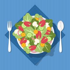 Ensalada fresca lista para comer