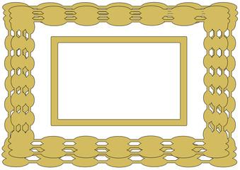 Goldfarbener Rahmen