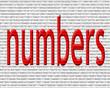 kırmızı renkli sayılar