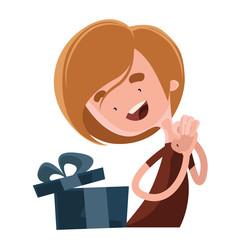 Happy birthday gift vector illustration cartoon character