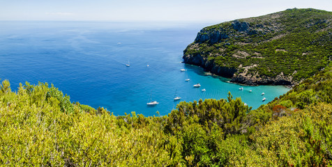 tuscany coast on Capraia island