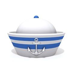 Sailorman hat 3d illustration