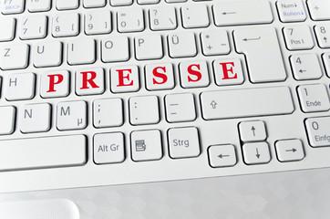 Helle Tastatur: Presse