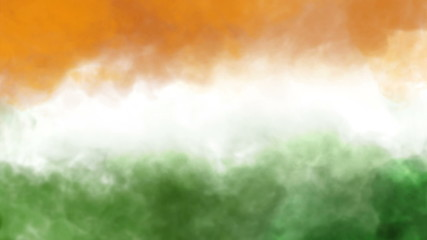 three colors smoke animation, indian national flag