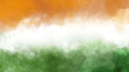 three colors smoke animation, indian national flag
