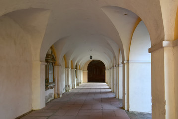 Ambulatory in church Swieta Lipka