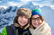 Winter vacation -teens in mountauin