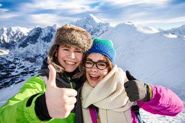 Winter vacation - teens in mountauin