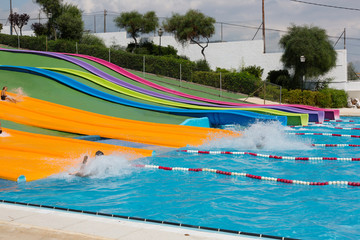 Water slide at  Barcelona  waterpark