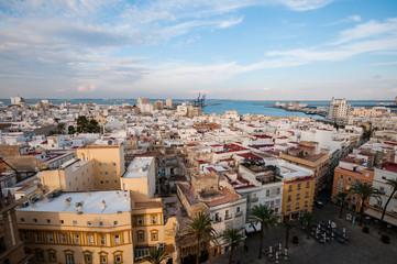 Panorama of famous Cadiz, Spain