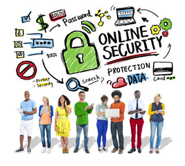 Online Security Protection Internet Safety Technology Concept