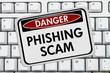 Phishing Scam Danger Sign - 77260284