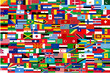 all vector flags of all countries in one illustration
