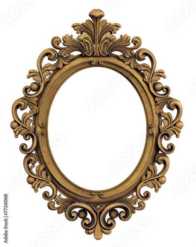 Fototapete verziert bilderrahmen mittelalter goldene - Spiegel verzieren ...