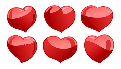 A set of hearts