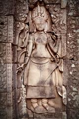 Apsara carving, Angkor wat, Cambodia