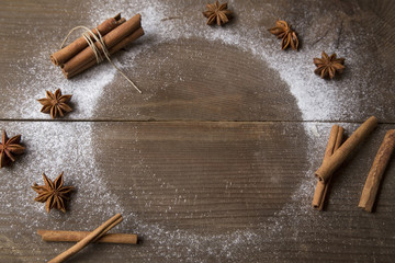 Spices and the powder sugar