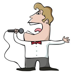 Cartoon Singer