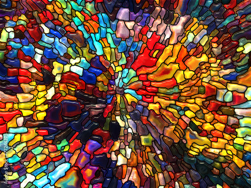 Foto Spatwand Glas In Lood Paths of Stained Glass