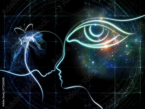 Foto Spatwand Intuïtie Intuition
