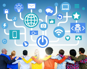 Global Communications Social Networking Togetherness Concept