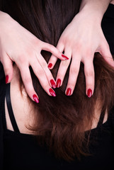 Hair and fingers