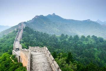 Great Wall of China at the Jinshanling Section