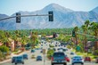 canvas print picture - Palm Springs Highway