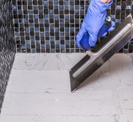 Prepare for tile installation
