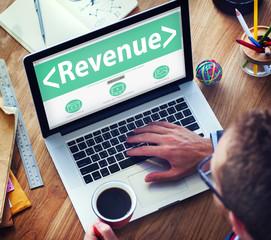 Digital Online Revenue Profit Office Working Concept