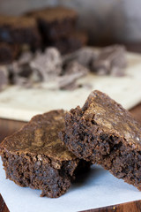 Chocolate Brownies on Parchment