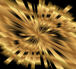 Ray gold background template