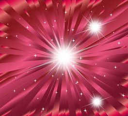 Pink ray Star burst background template