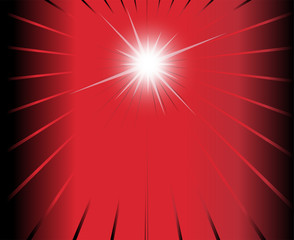 Red black ray Star burst background template