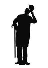 man, silhouette