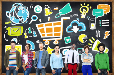 Diversity Casual People Online Marketing Professional Concept