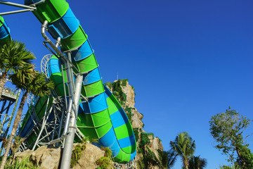 Huge Jungle Water Tube Slides
