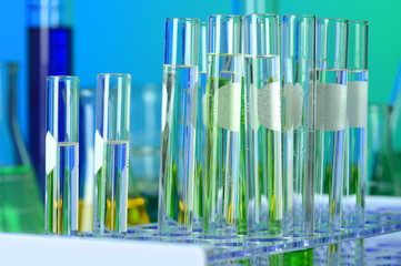 Test Tubes in Laboratory Rack