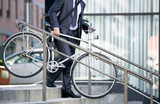 business man and his bicycle