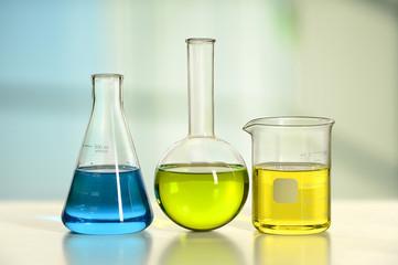 Glassware on Laboratory Table