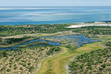 Coastal waters and forests of tropical Mozambique