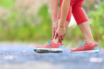 Twisted broken ankle - running sport injury