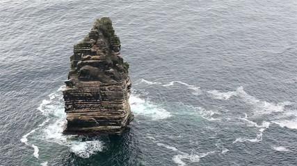 Branaunmore sea stack in Atlantic Ocean.